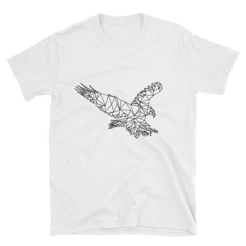 Modern Bold Eagle Print Mens T Shirt White for $0.25 at Miss Deplorable
