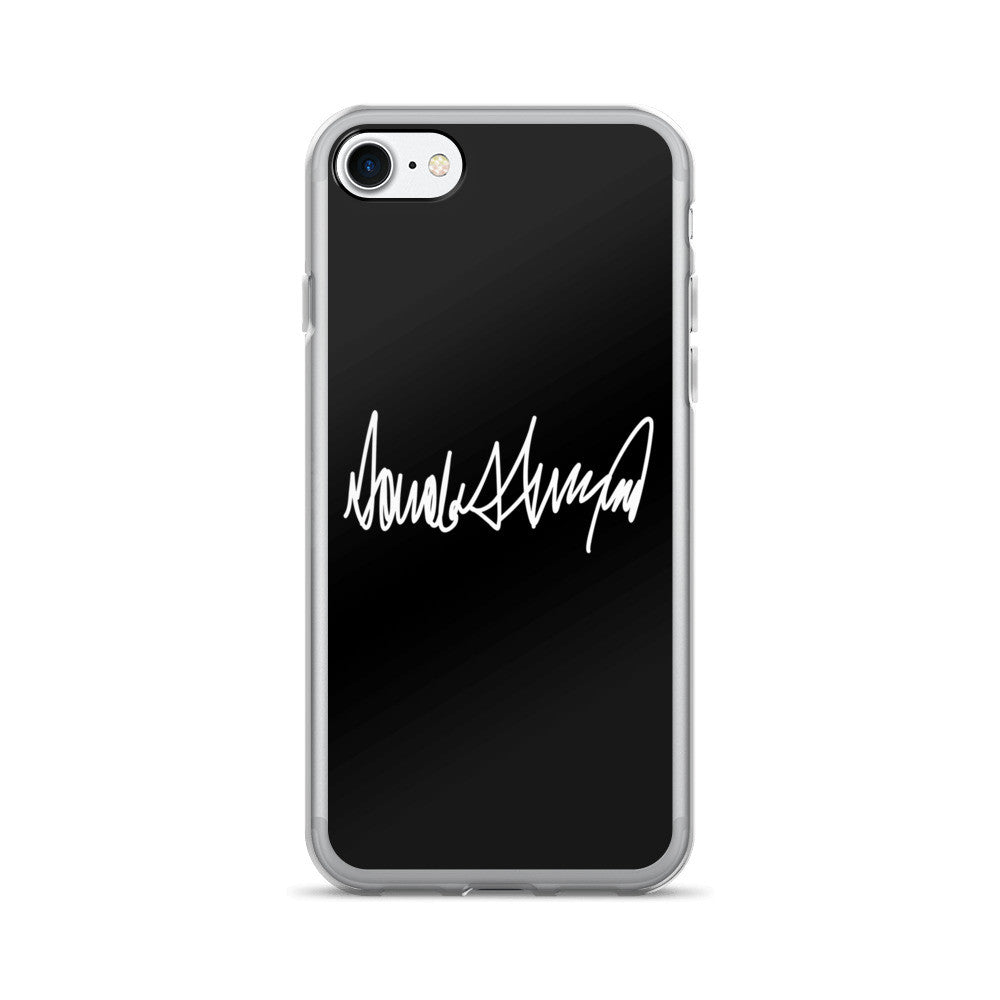 Donald Trumps Autograph iPhone 7 / 7 Plus Case Black - Miss Deplorable