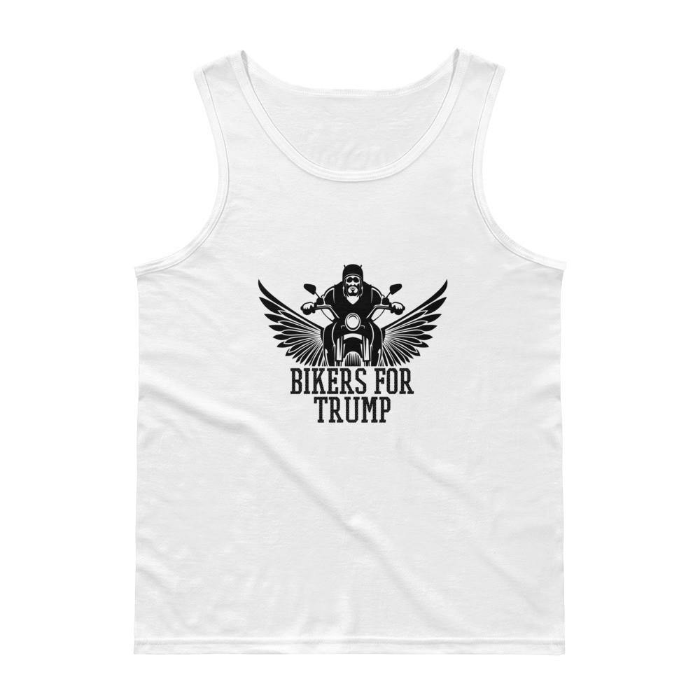 Bikers For Trump White Unisex Tank Top - Miss Deplorable