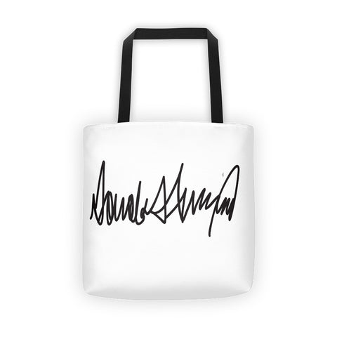 Donald Trumps Autograph Tote bag for $0.27 at Miss Deplorable