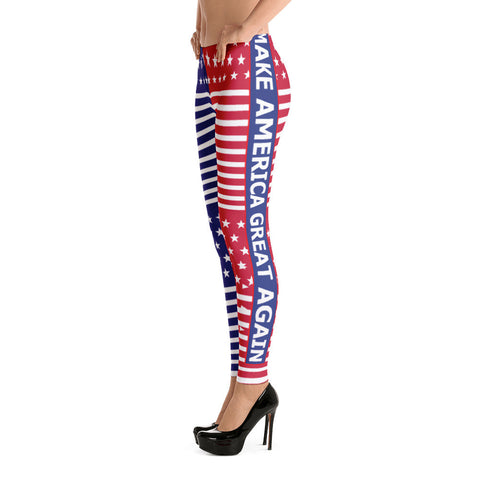 Make America Great Again Leggings Red, White and Blue for $0.49 at Miss Deplorable