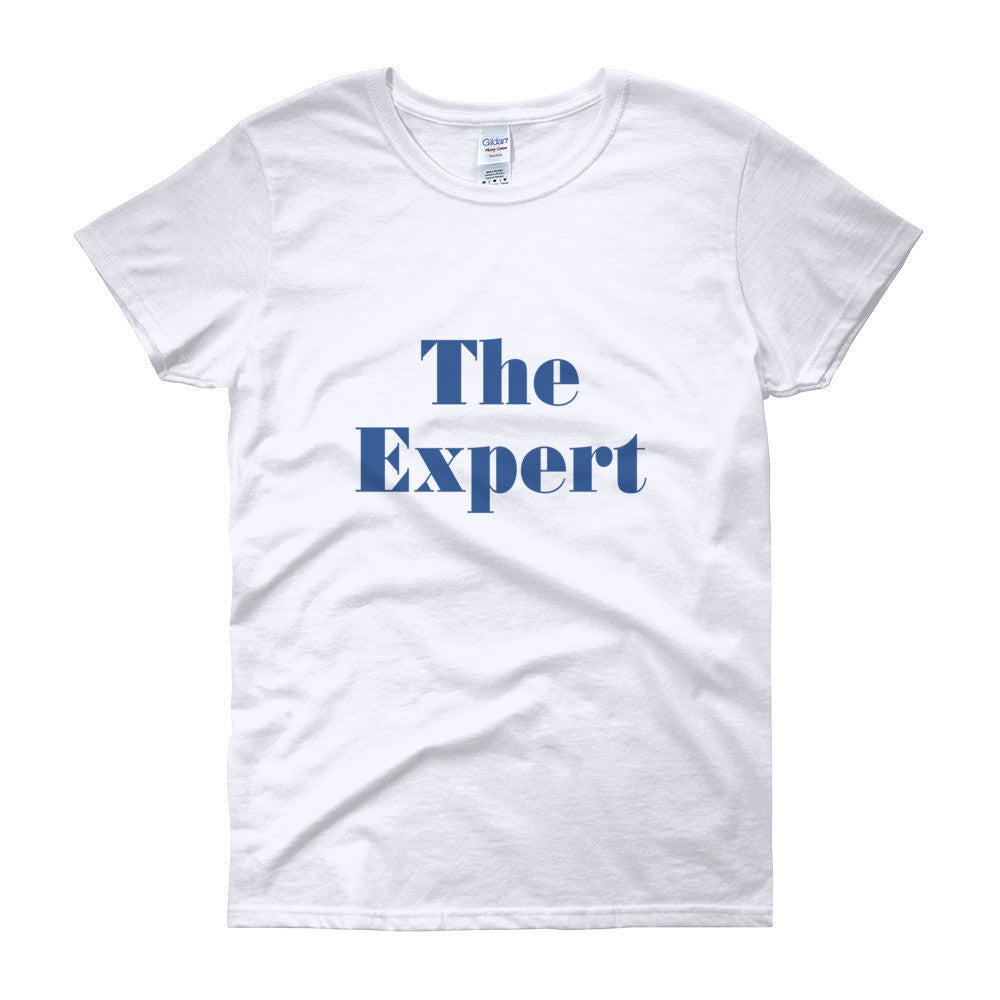 The Expert Barron Trump Women's Short Sleeve T-Shirt for $26.00 at Miss Deplorable
