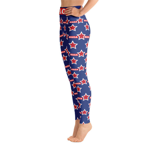 "Blue Make America Great Again ""MAGA"" Yoga Leggings - Miss Deplorable"