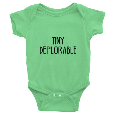 Tiny Deplorable Donald Trump Infant short sleeve one-piece - Miss Deplorable