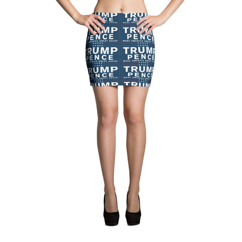 Trump Pence Make America Great Again Mini Skirt - Miss Deplorable