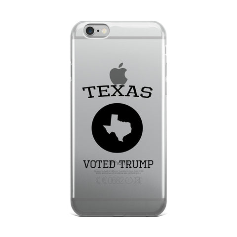 Texas Voted Donald Trump iPhone 5/5s/Se, 6/6s, 6/6s Plus Case - Miss Deplorable
