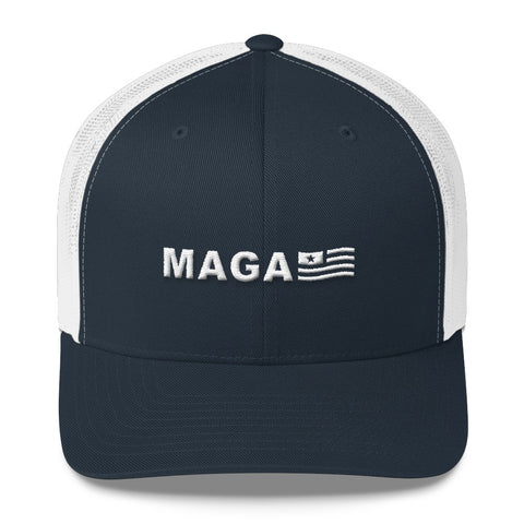 Make America Great Again MAGA USA FLAG Trucker Cap