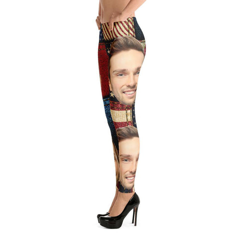 Flag Face Leggings - Miss Deplorable
