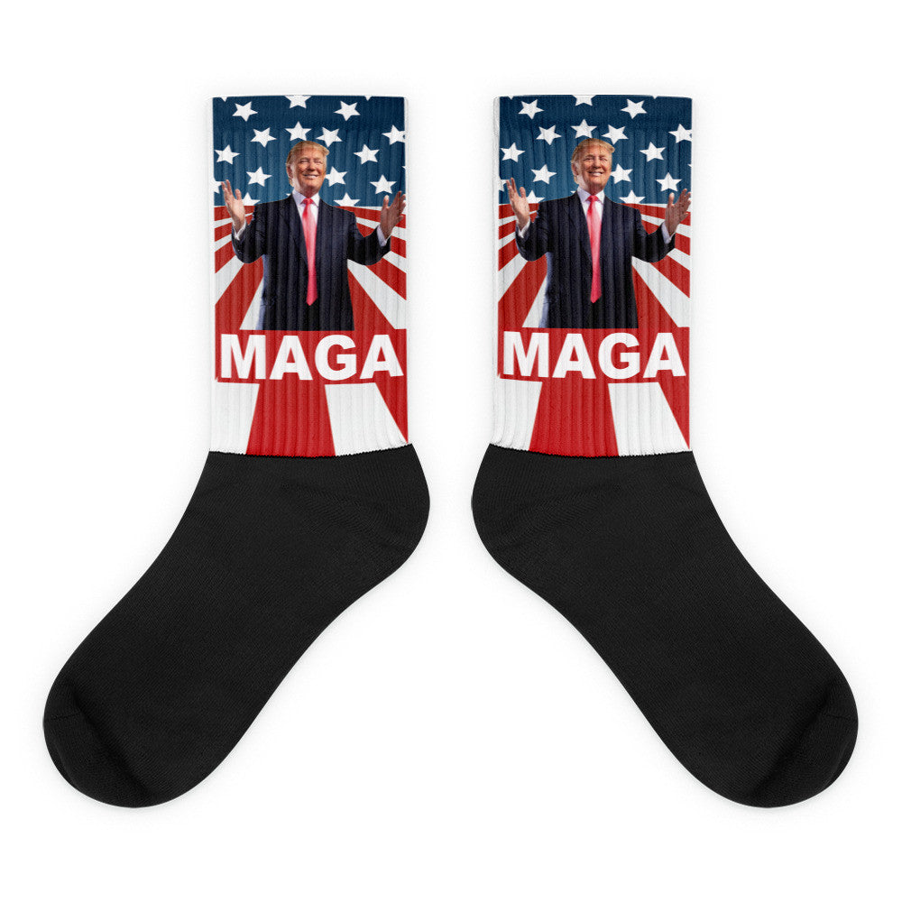 "Make America Great Again Donald Trump ""MAGA"" Socks for $21.95 at Miss Deplorable"