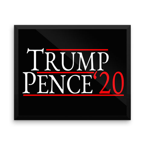 Trump Pence 2020 Framed Poster for $78.50 at Miss Deplorable