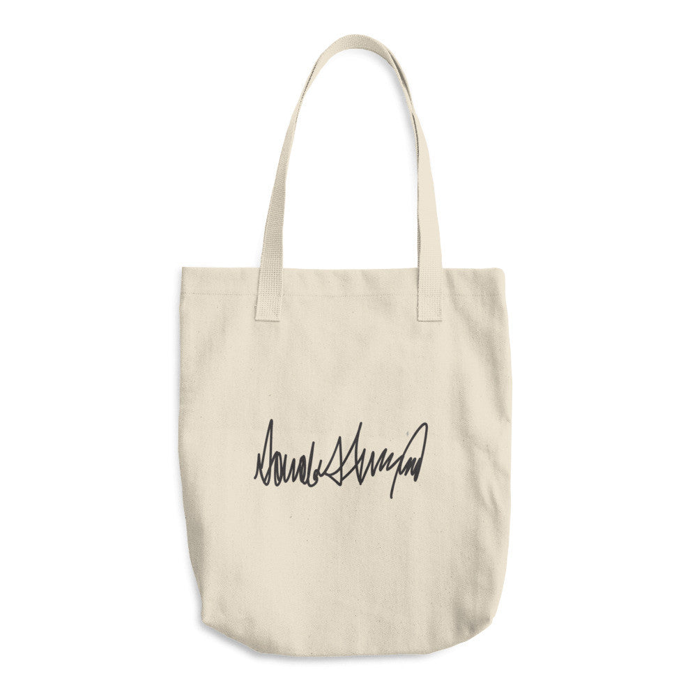 Donald Trumps Autograph Cotton Tote Bag - Miss Deplorable