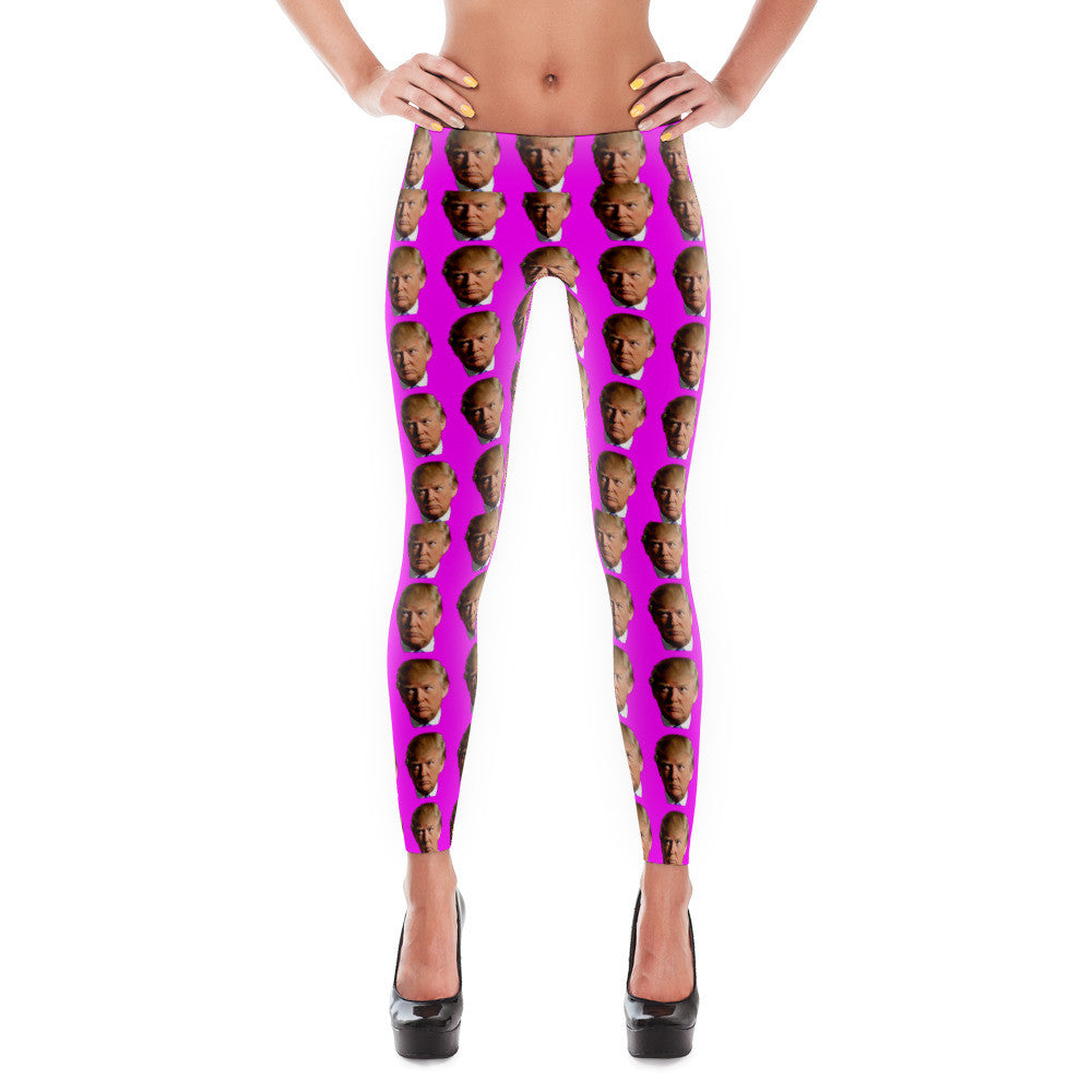 Pink Mosaic Donald Trump Leggings - Miss Deplorable