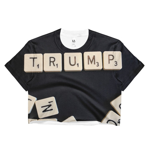 Donald Trump Ladies Crop Top Tee for $30.00 at Miss Deplorable