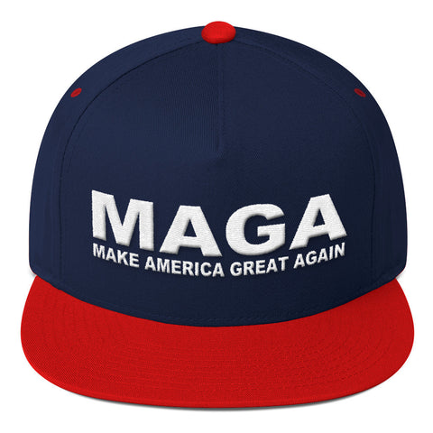 Donald Trump Make America Great Again Flat Bill Cap - Miss Deplorable
