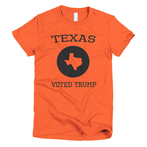 Texas Voted Donald Trump Short sleeve women's t-shirt - Miss Deplorable