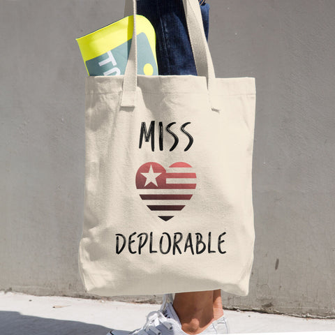 Miss Deplorable Cotton Tote Bag - Miss Deplorable