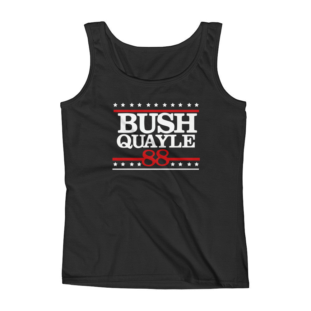 President George Bush Quayle Ladies' Tank Top - Miss Deplorable