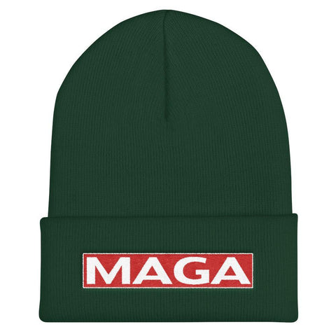 Donald Trump Make America Great Again MAGA Cuffed Beanie - Miss Deplorable