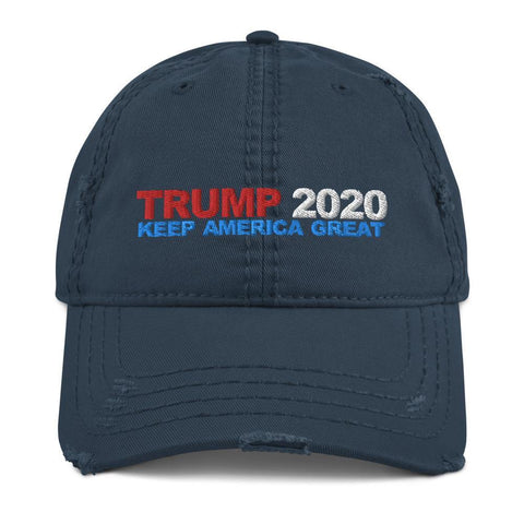 DONALD TRUMP 2020 Distressed Dad Hat - Miss Deplorable