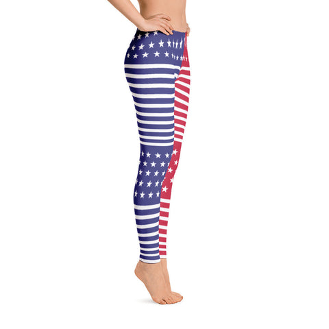 Make America Great Again Leggings Red, White and Blue - Miss Deplorable