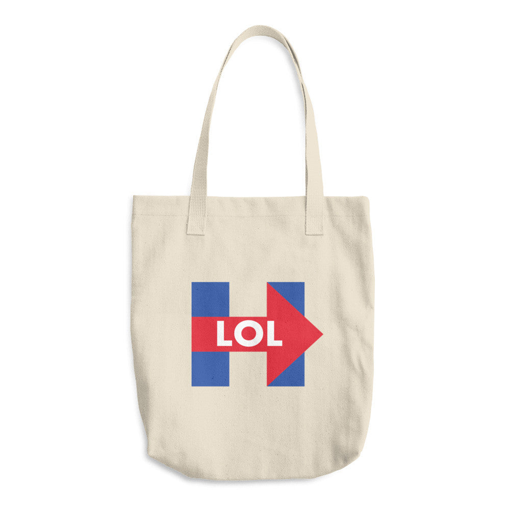Hillary Clinton LOL Cotton Tote Bag - Miss Deplorable