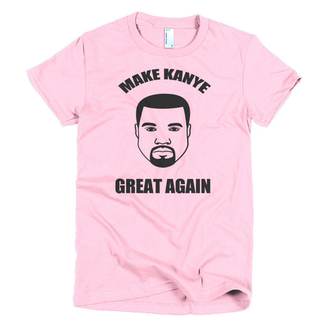 Make Kanye Great Again Kanye West Short sleeve women's t-shirt - Miss Deplorable