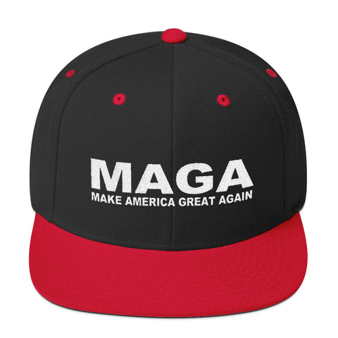 Make America Great Again Snapback Cap Red | Black - Miss Deplorable