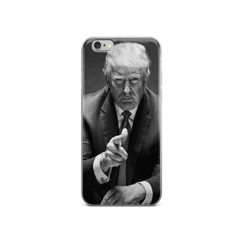 Donald Trump Black & White iPhone 5/5s/Se, 6/6s, 6/6s Plus Case - Miss Deplorable