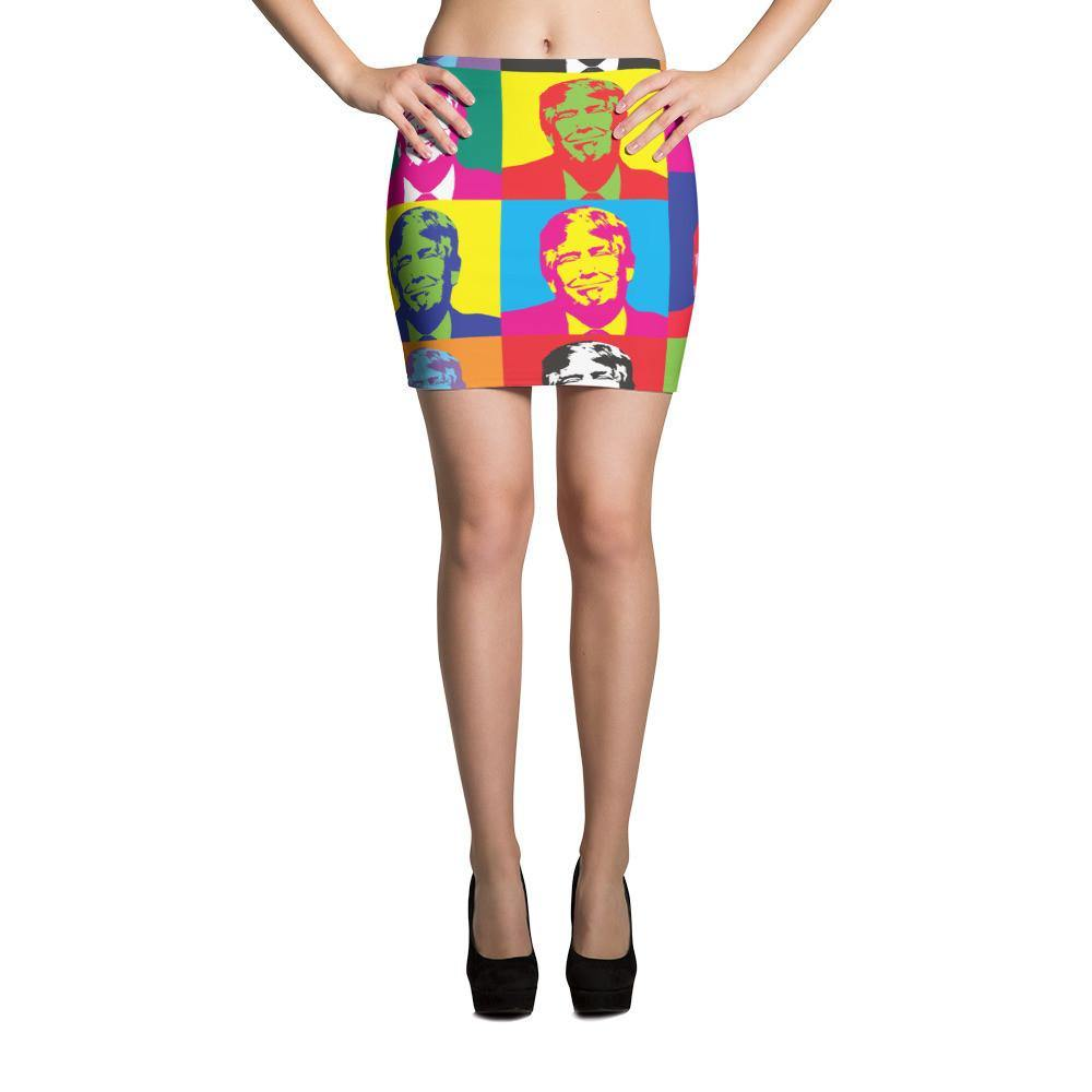 Andy Warhol Style Donald Trump Mini Skirt - Miss Deplorable