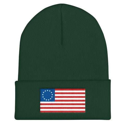Betsy Ross American Flag Beanie Hat - Miss Deplorable