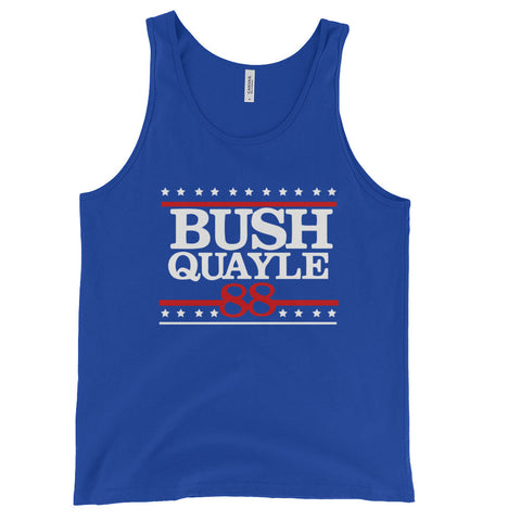 President George H W Bush Senior Unisex Tank Top for $0.28 at Miss Deplorable