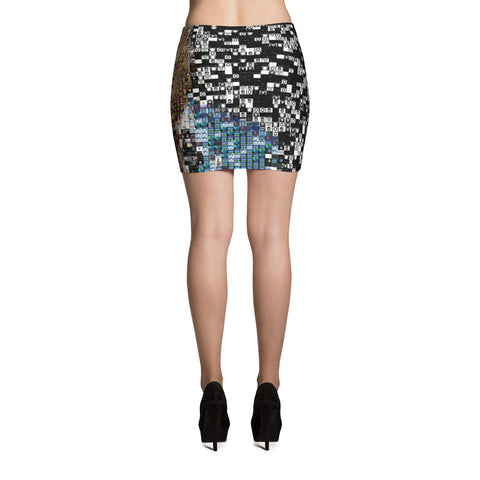Donald Trump Patterned  Mini Skirt - Miss Deplorable