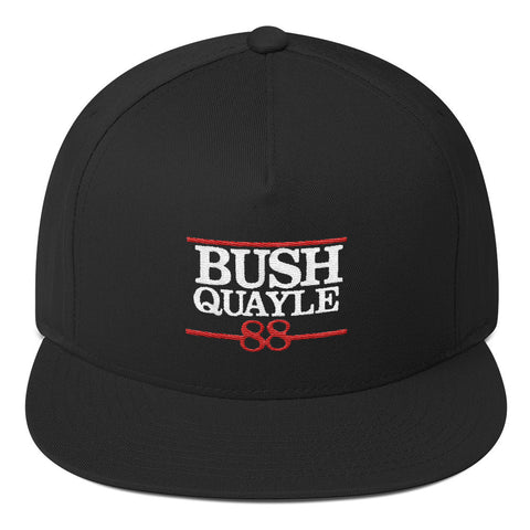 President George H W Bush Quayle 88 Flat Bill Cap - Miss Deplorable