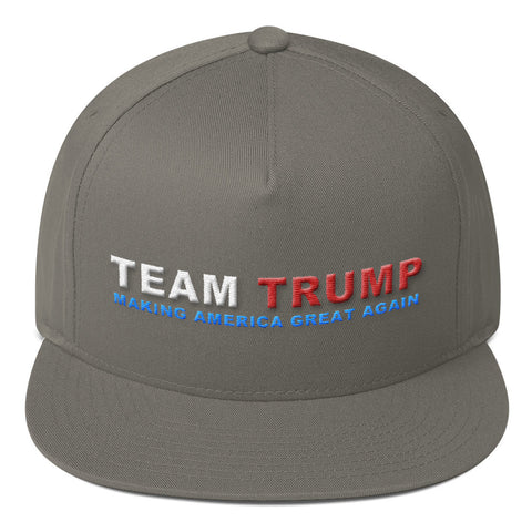 Team Donald Trump Making America Great Again Flat Bill Cap - Miss Deplorable