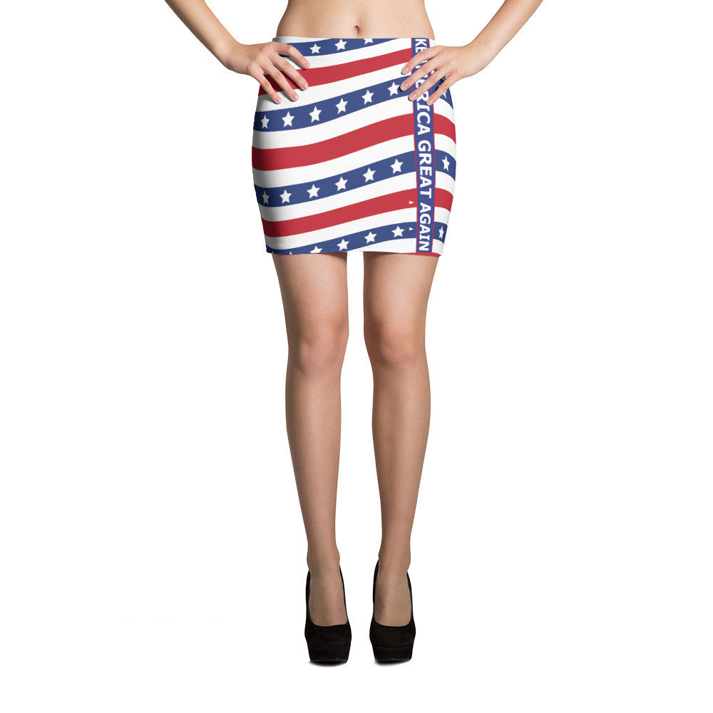 Make America Great Again Mini Skirt - Miss Deplorable
