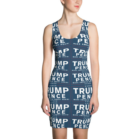 Trump Pence Make America Great Again Dress Blue for $0.64 at Miss Deplorable