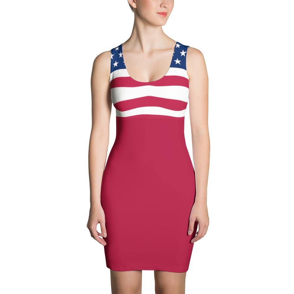 American Flag Dress Red for $64.95 at Miss Deplorable