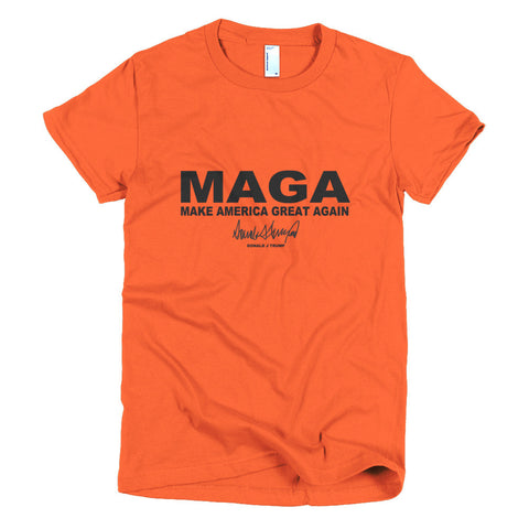 "Make America Great Again ""maga"" Donald Trump Short Sleeve Women's T-shirt - Miss Deplorable"