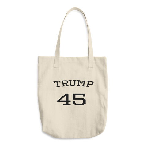 Trump 45 Cotton Donald Trump Tote Bag for $25.00 at Miss Deplorable