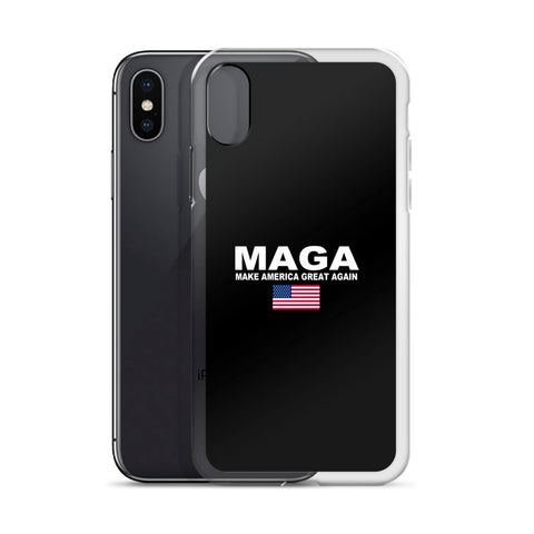 Donald Trump Make America Great Again iPhone Case Black - Miss Deplorable