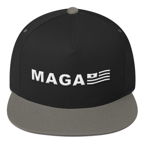 Make America Great Again MAGA USA FLAG Flat Bill Cap