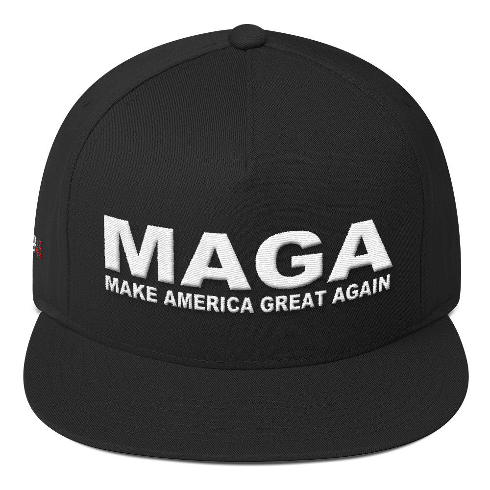 Make America Great Again Trump 45 Flat Bill Cap - Miss Deplorable