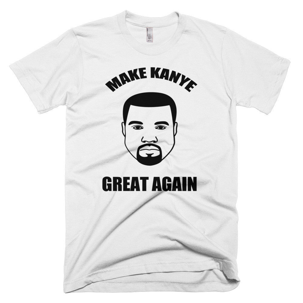 Make Kanye Great Again Again Kanye West Short sleeve men's t-shirt for $25.00 at Miss Deplorable