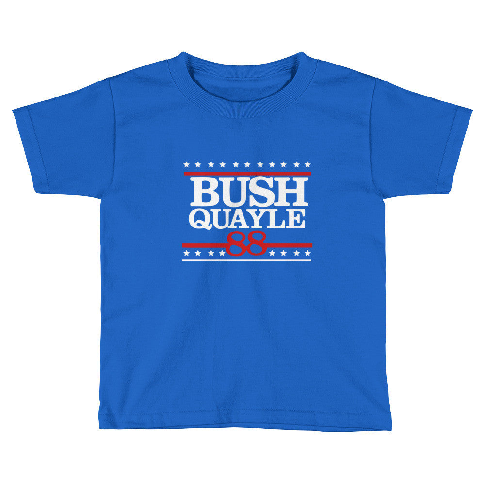 President H W Bush Retro Republican Kids Bush Quayle 1988 Short Sleeve T-Shirt - Miss Deplorable