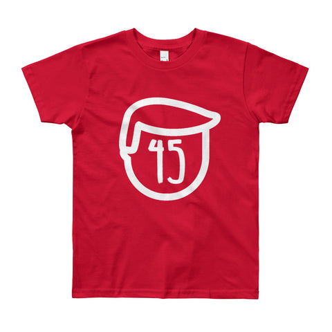 Trump 45 Donald Trump Youth Short Sleeve T-Shirt for $26.00 at Miss Deplorable