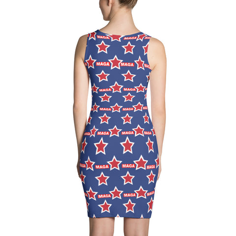 "Blue Make America Great Again ""MAGA"" Dress - Miss Deplorable"