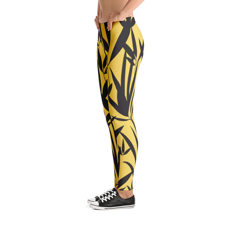Gold & Black Bamboo Leggings - Miss Deplorable