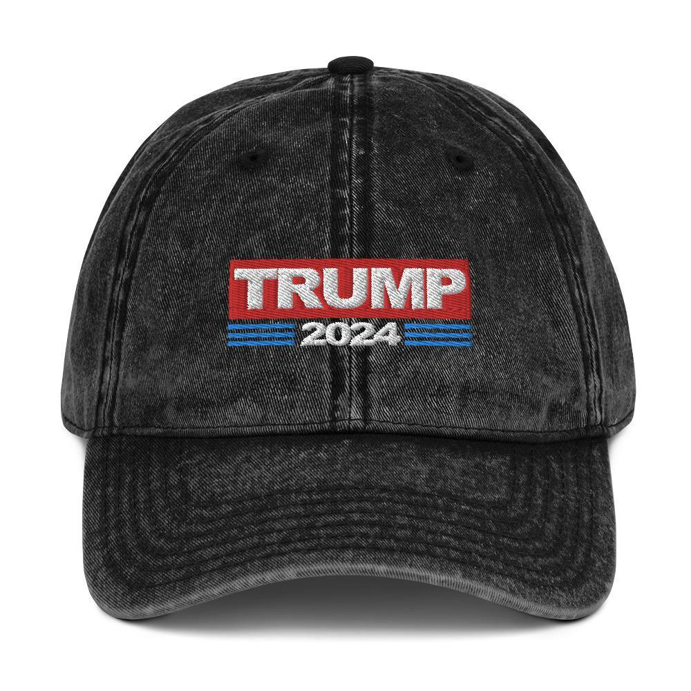 Trump 2024 Hat President Donald Trump Vintage Cotton Baseball Hat