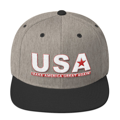 Make America Great Again USA Wool Blend Snapback