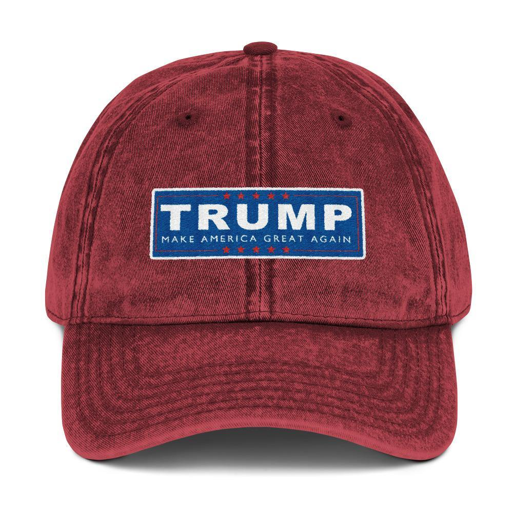 Trump Make America Great Again Campaign Hat Vintage Cotton Twill Baseball Cap - Miss Deplorable